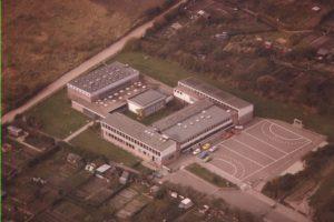 Hebbelschule Flensburg, Luftaufnahme 1981