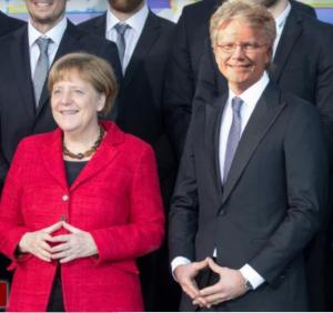 Angela Merkel und Jens Junge