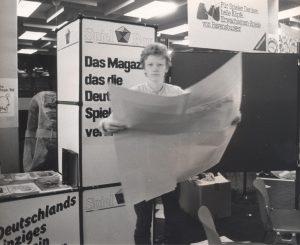 SPIEL in Essen 1984, Jens Junge beim Aufbau