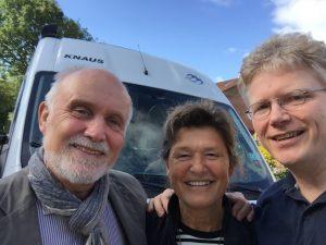Ulrich Klocke mit seiner Frau Ruth und Jens Junge