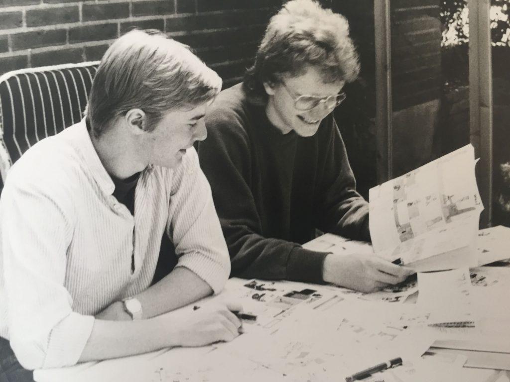 Kim Schmidt und Jens Junge bei einer ihrer zahlreichen Comicsitzungen 1984