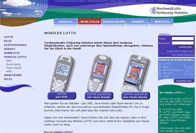 Lotto mobil und online 2004