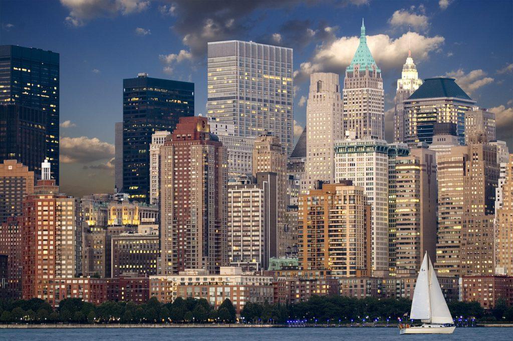 Stadt, New York, Wolkenkratzer, wirtschaftliche Ordnung, Kapitalismus