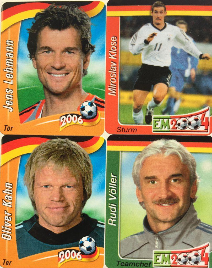 WM, FIFA, Ferrero, Hanuta, Sammelbilder 2004 und 2006
