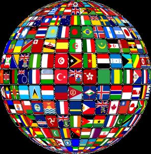 Welt mit Nationalstaaten